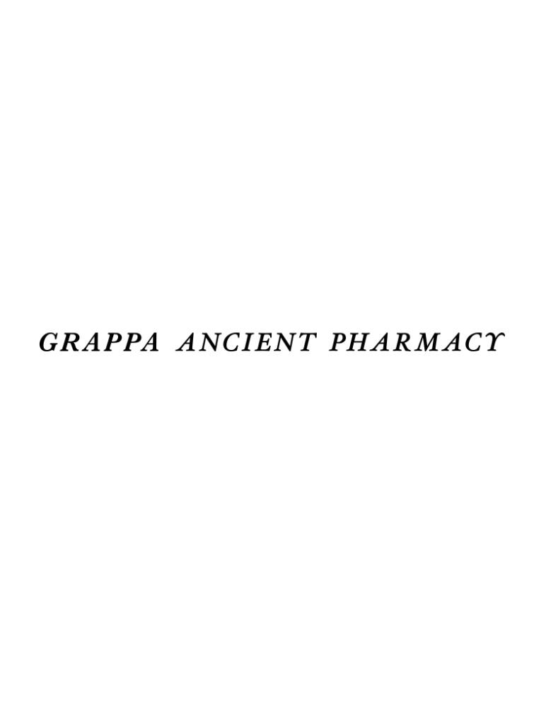 GRAPPA ANCIENT PHARMACY